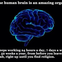 Don't infect the brain with religion
