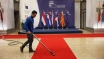 BRUSSELS, BELGIUM - FEBRUARY 18:  The red carpet is cleaned ahead of the arrival of dignitaries at the Council of the European Union on February 18, 2016 in Brussels, Belgium. Most of Europe's 28 member state leaders are gathering in Brussels to take part in a crucial summit and vote on British Prime Minister David Cameron's pledge to renegotiate the terms of Britain's membership in the EU, namely proposals to limit benefits for migrant workers. A referendum on whether Great Britain will stay in or leave the European Union is to be held before the end of 2017, though many expect it to take place in June this year.  (Photo by Dan Kitwood/Getty Images)