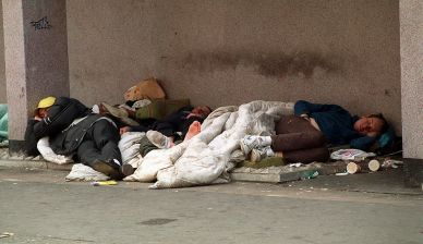 Sleeping rough figures